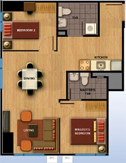 Avida-Towers-Davao-Condominium-2-Bedrooms-Unit-Floor-Plan