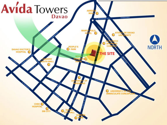 avida towers vicinity map