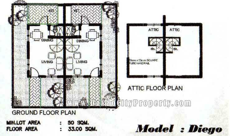 Diego duplex model house at the prestige subdivision for Subdivision house plans