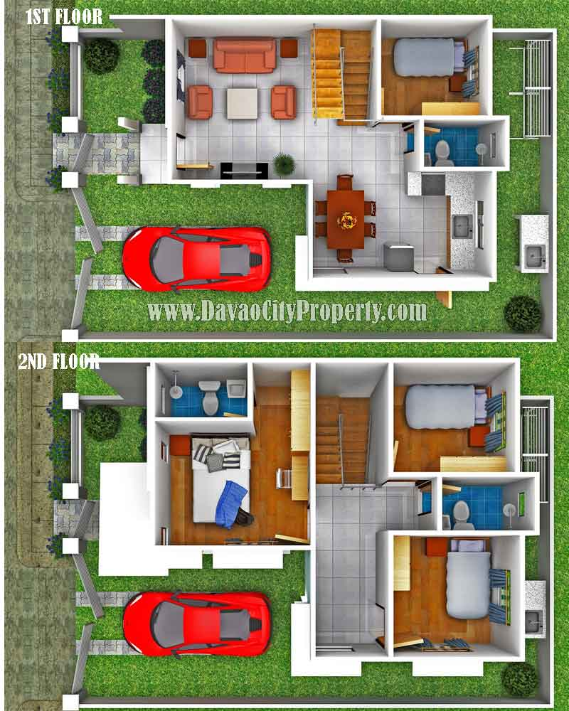 Affordable housing at granville subdivision catalunan peque o for Sample house floor plan drawings