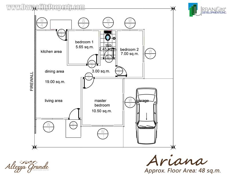 Floor-Plan-Ariana-Bungalow-Low-Cost-Affordable-Housing-in-Altezza-Grande-Caalunan-Grande-Davao-City