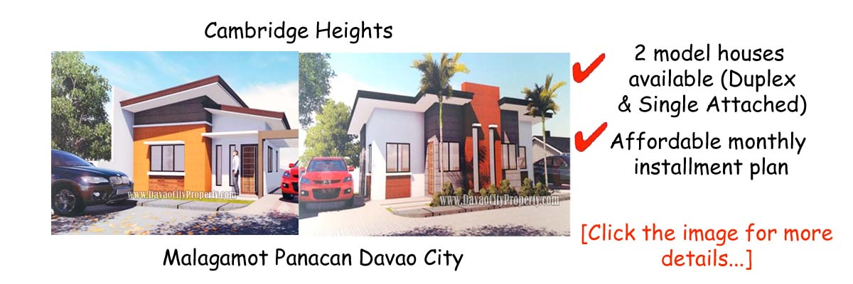 Affordable House and lot at Cambridge Heights Panacan Davao City