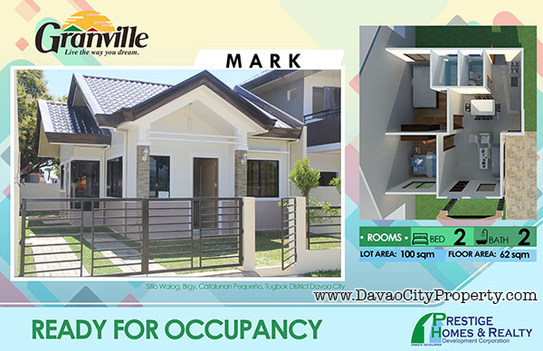 Granville 1 Ready to Occupy Catalunan Pequeno House and Lot Davao City House Mark model