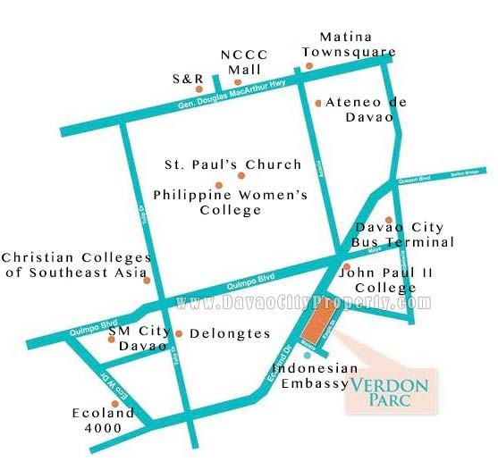 Verdon Parc Davao Vicinity Map