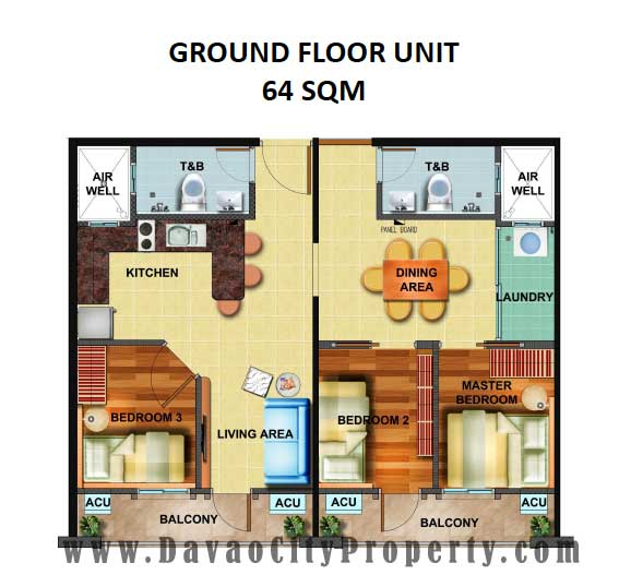 Arezzo Place Davao Unit Finishes and Floor Plan