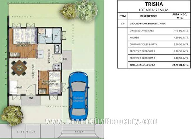 trisha floor plan low cost and affordable housing at greenwoods rh davaocityproperty com