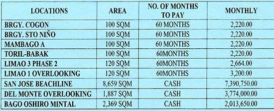 Very Affordable Lots For Sale in Samal