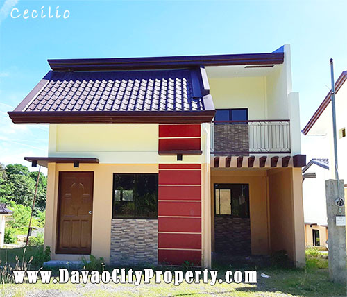 CECILIO: 3 Bedrooms  Model House at Las Casas de Maria Indangan Buhangin