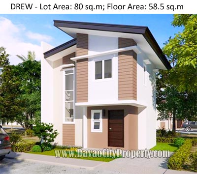 DREW – 2 Storey 2 Bedrooms 1 Toilet at Uraya Residences Catalunan Grande Davao