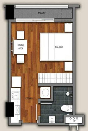 Amani-Grand-Condominium-in-Davao-near-mall-Studio-floor-plan