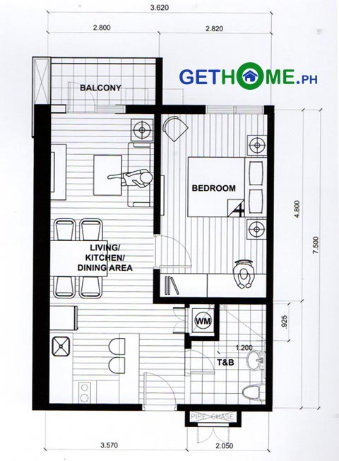 1-bedroom-loft-Floor-Plan-Ivory-Residences-Davao-COndo-in-JP-Laurel-Santos-Land