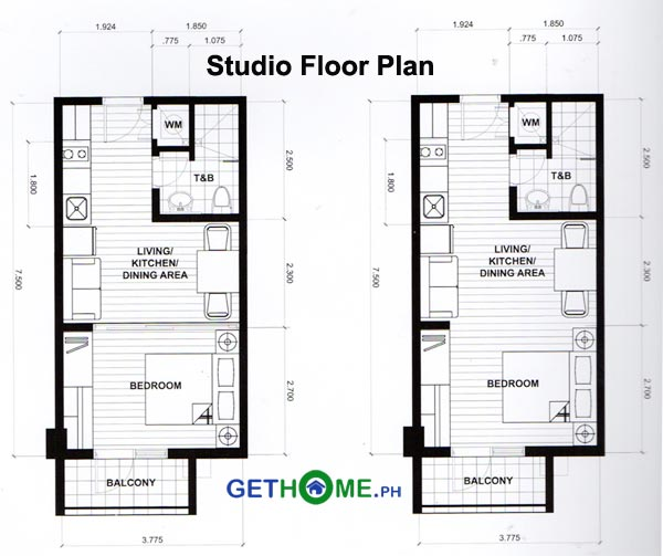 Studio-Floor-Plan-Ivory-Residences-Davao-COndo-in-JP-Laurel-Santos-Land